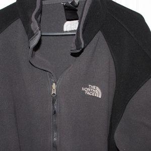 The North Face Black and Grey Zipup Jacket Mens